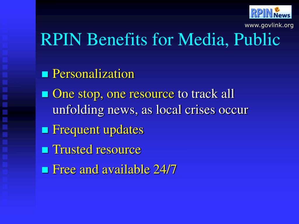 RPIN Benefits for Media, Public