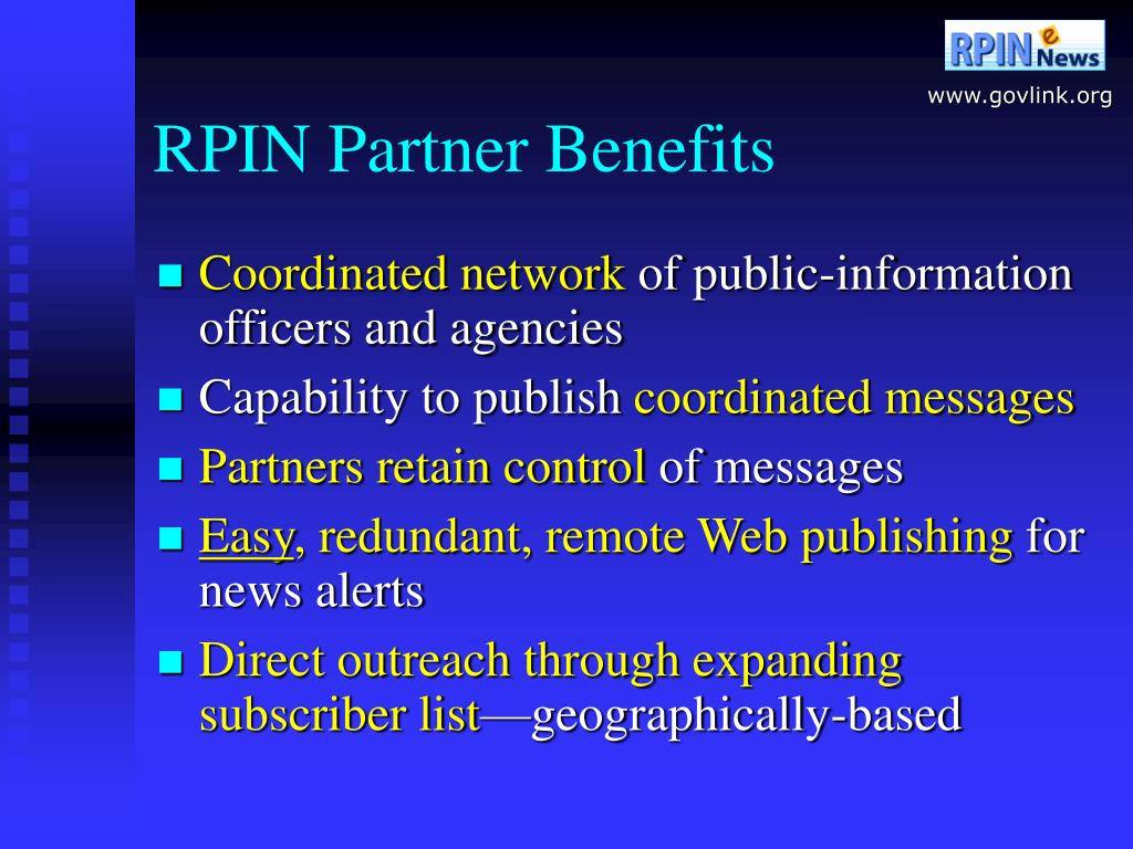 RPIN Partner Benefits