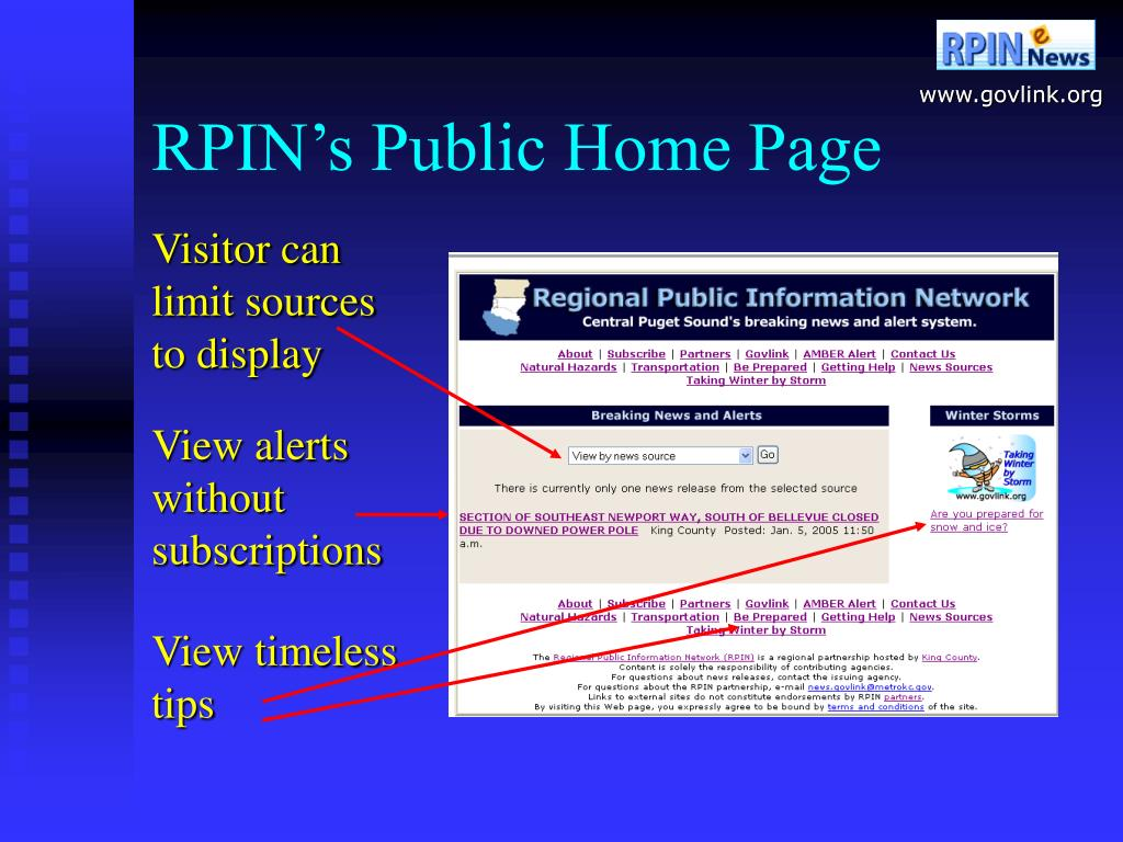 RPIN's Public Home Page