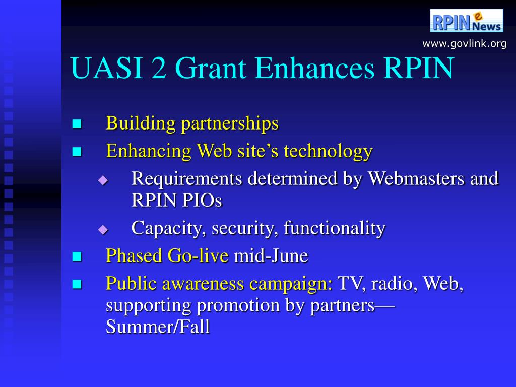 UASI 2 Grant Enhances RPIN