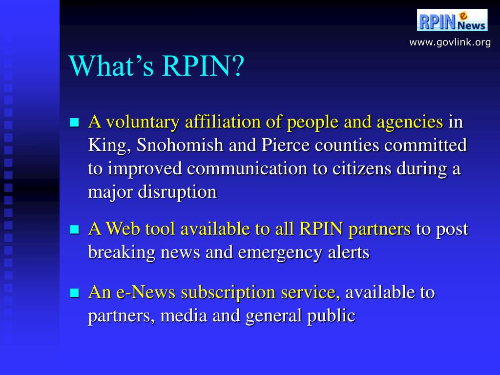 What's RPIN?