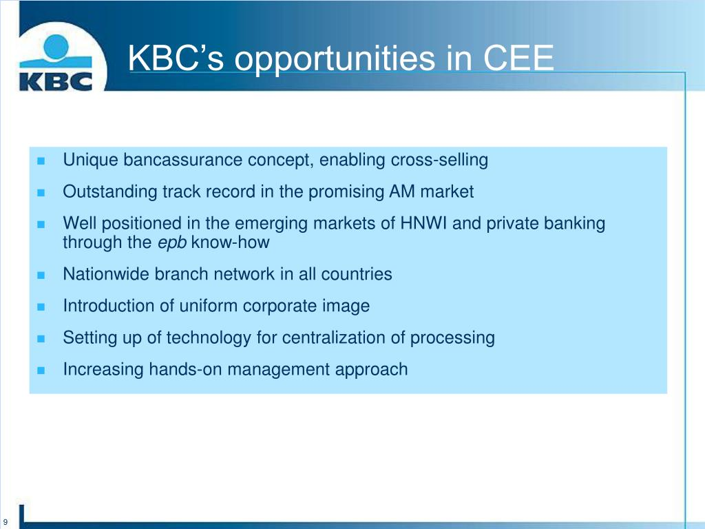 KBC's opportunities in CEE