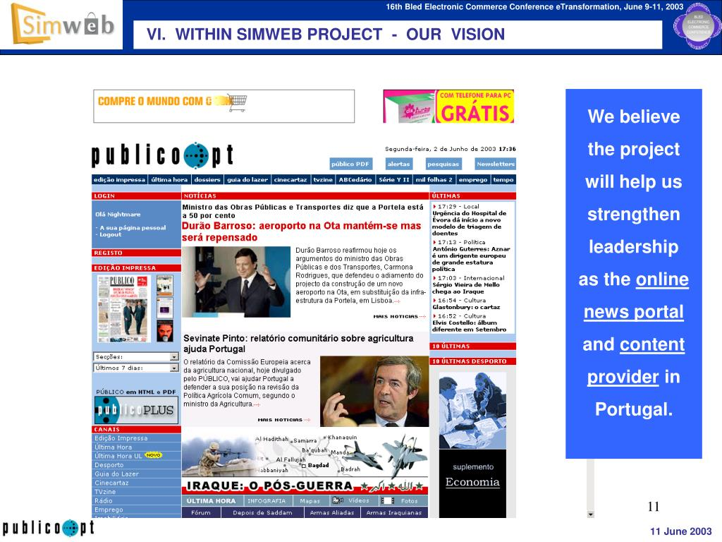 VI.  WITHIN SIMWEB PROJECT  -  OUR  VISION