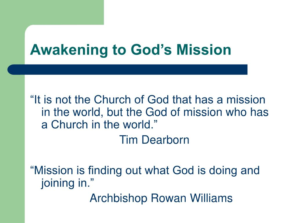Awakening to God's Mission