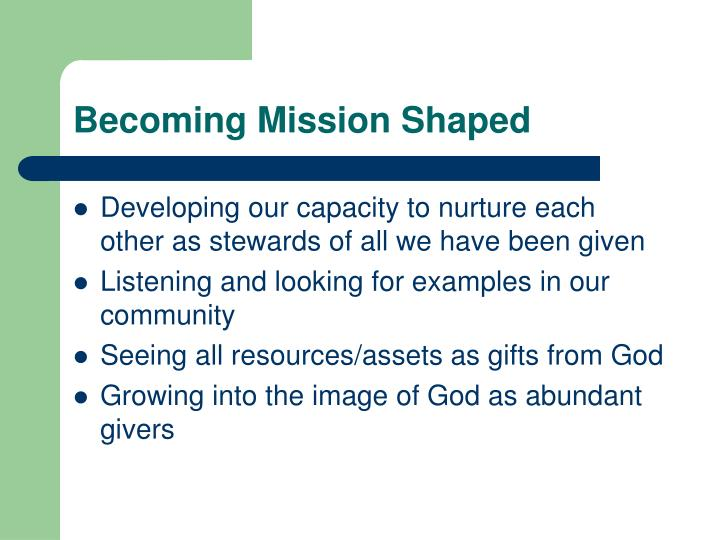 Becoming mission shaped l.jpg