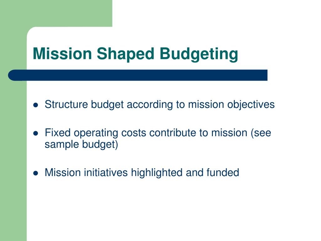 Mission Shaped Budgeting