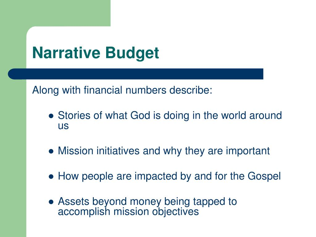 Narrative Budget