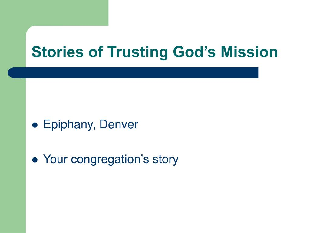 Stories of Trusting God's Mission