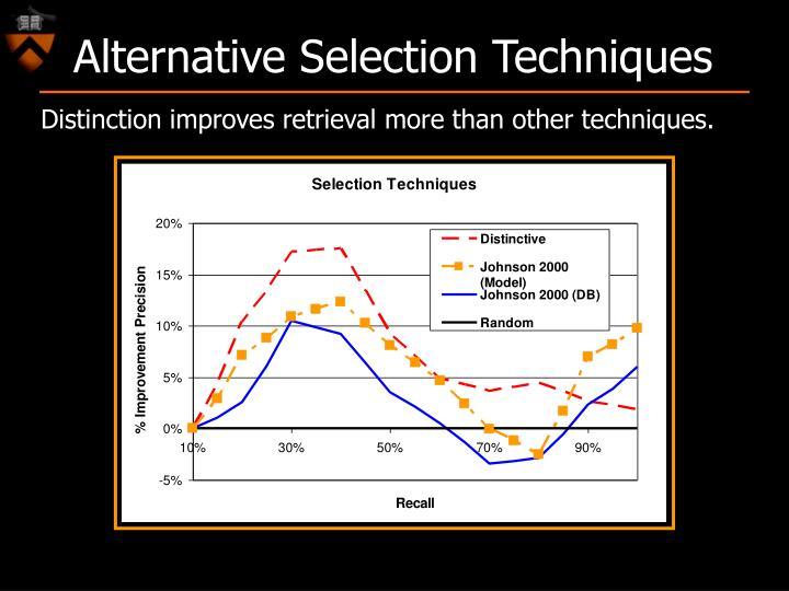 Alternative Selection Techniques