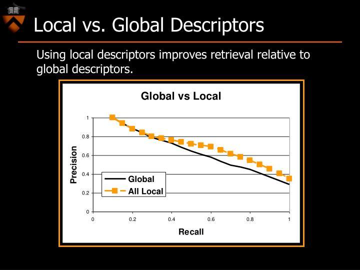 Local vs. Global Descriptors