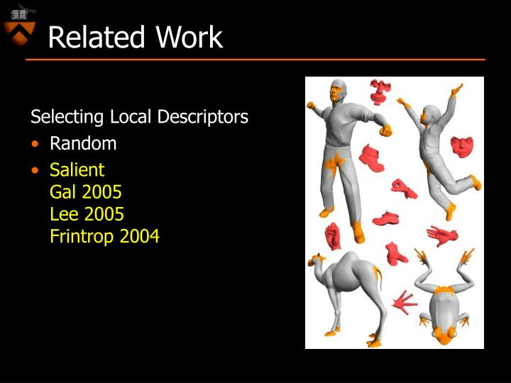 Selecting Local Descriptors