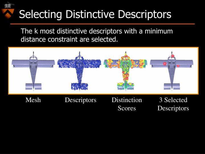 Selecting Distinctive Descriptors