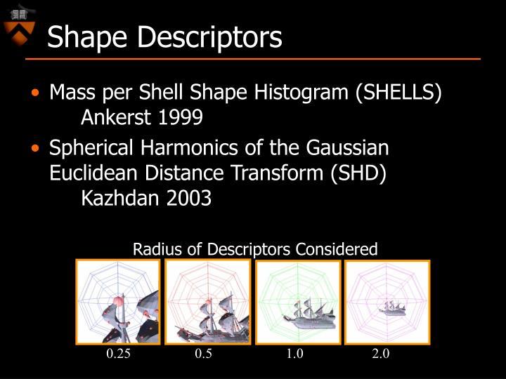 Radius of Descriptors Considered