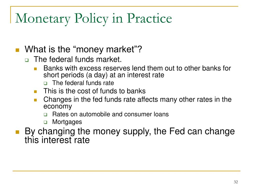 Monetary Policy in Practice