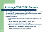 arbitrage with t bill futures