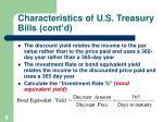 characteristics of u s treasury bills cont d9