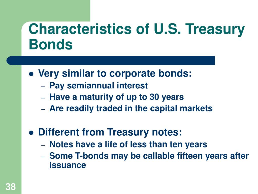 Characteristics of U.S. Treasury Bonds