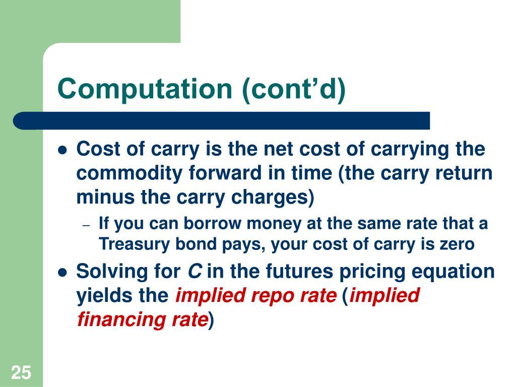 Computation (cont'd)