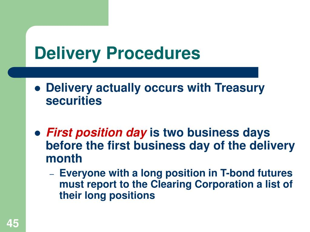Delivery Procedures