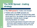 the nob spread trading strategy