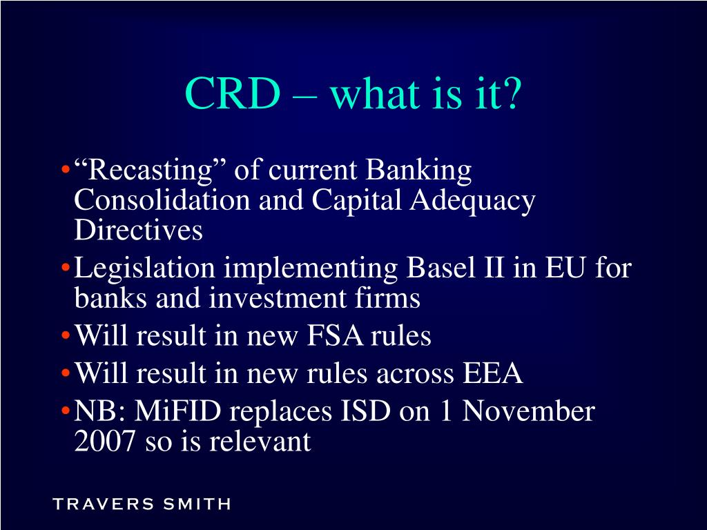 CRD – what is it?