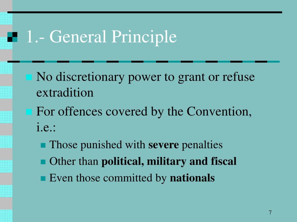 1.- General Principle