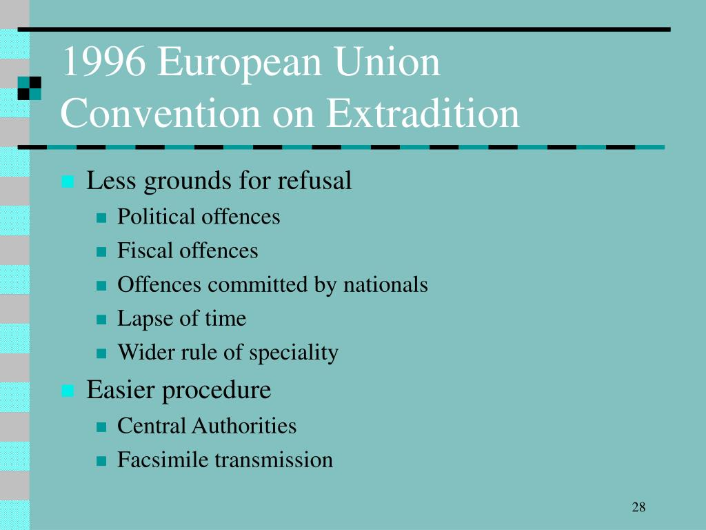 1996 European Union Convention on Extradition