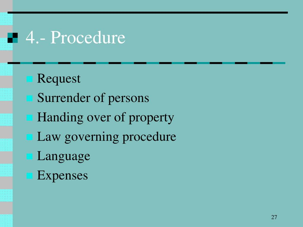 4.- Procedure