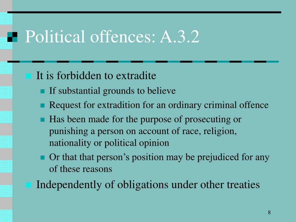Political offences: A.3.2