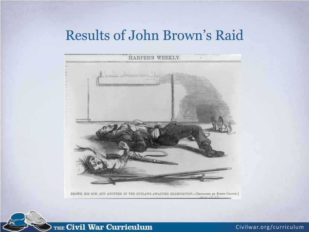 Results of John Brown's Raid