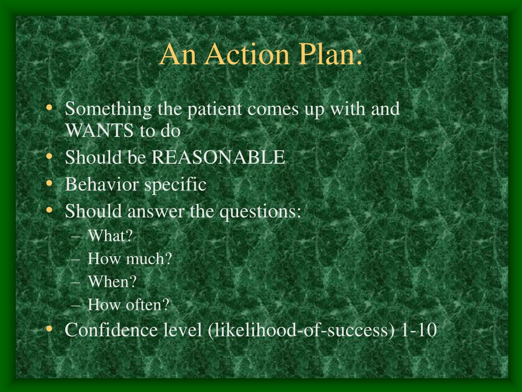 An Action Plan: