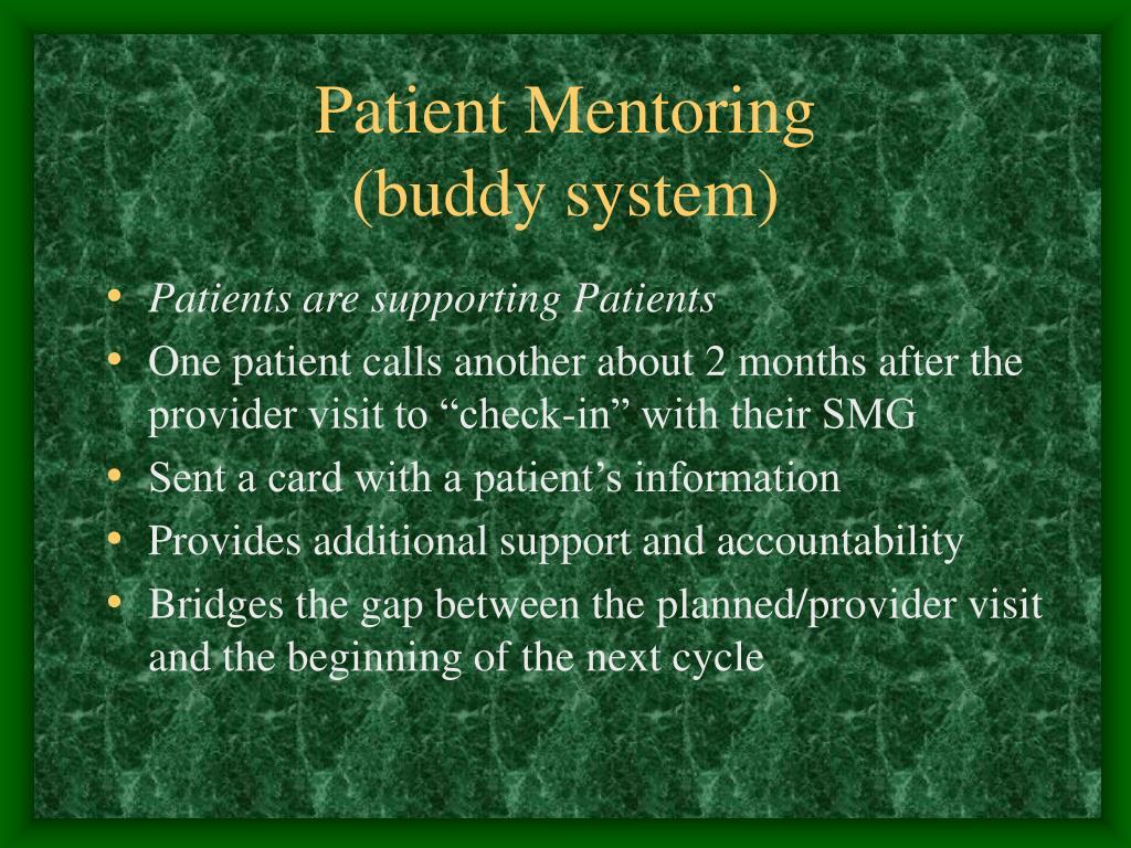 Patient Mentoring
