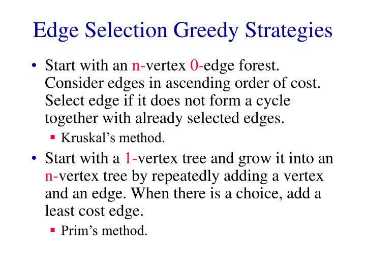 Edge selection greedy strategies l.jpg