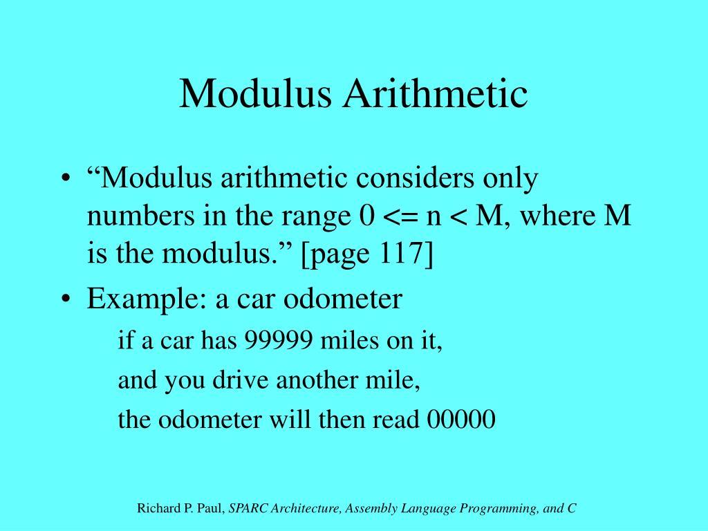 Modulus Arithmetic