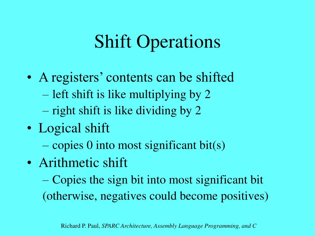 Shift Operations