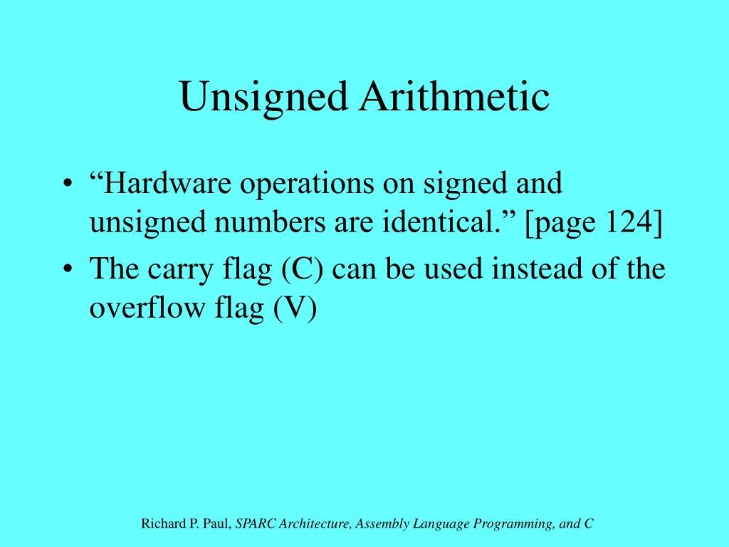 Unsigned Arithmetic
