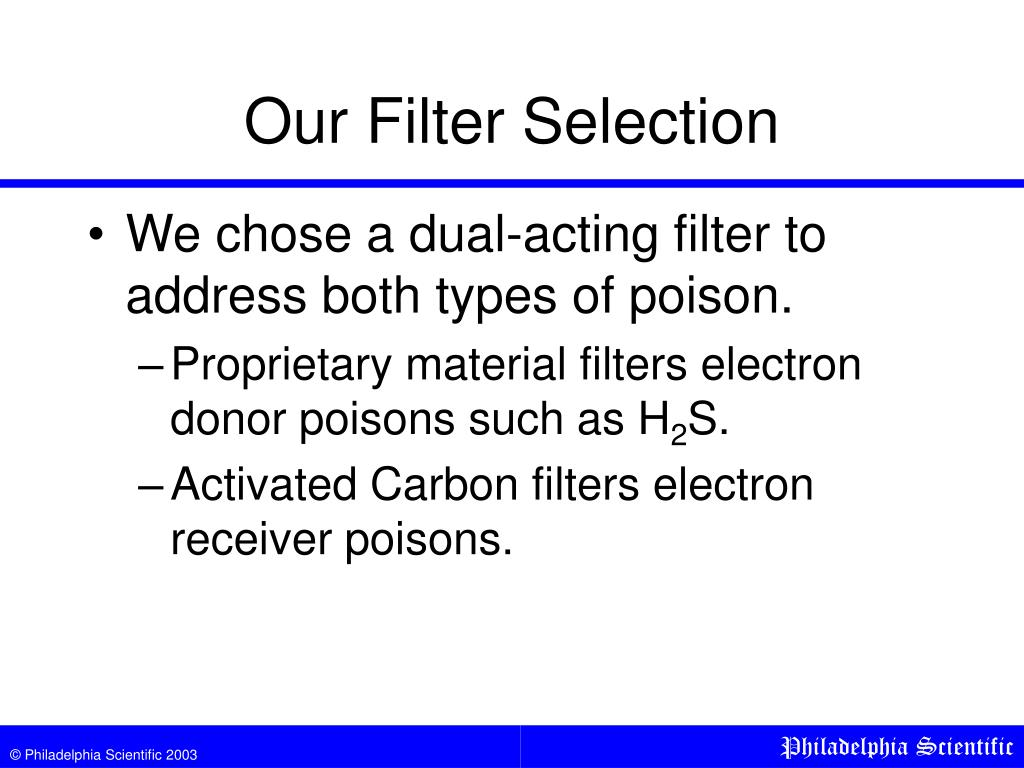 Our Filter Selection
