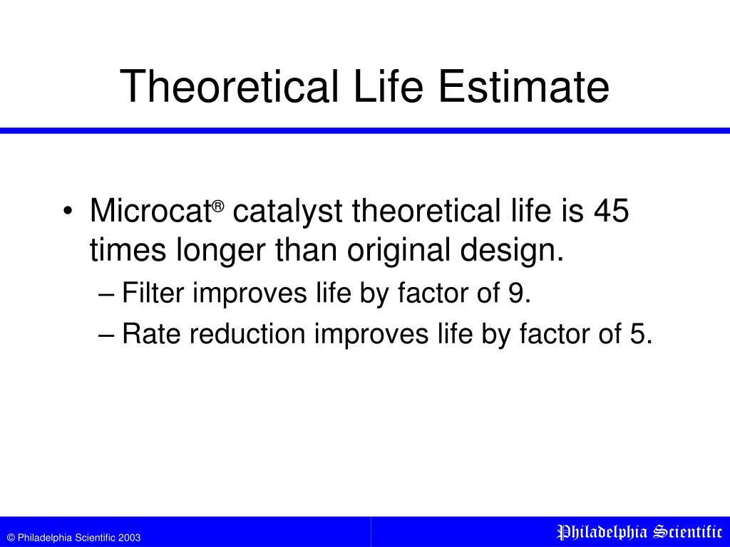 Theoretical Life Estimate
