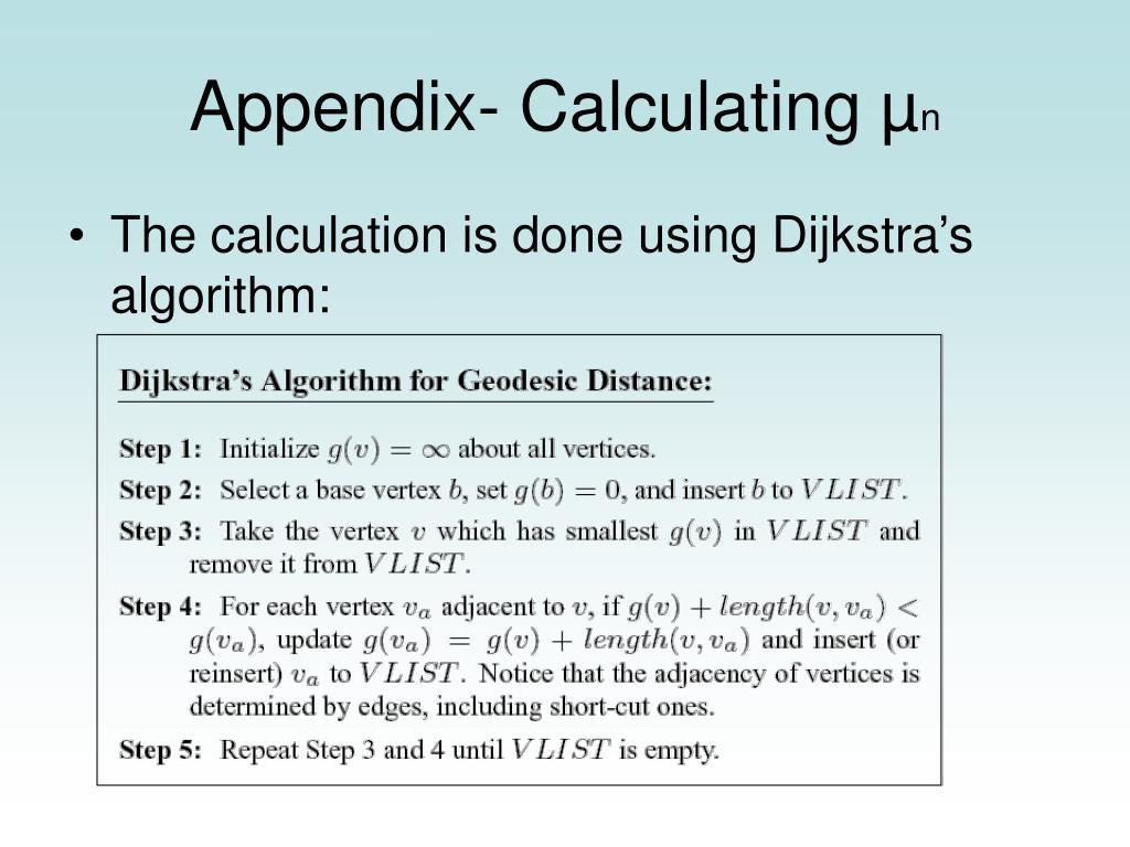 Appendix- Calculating µ