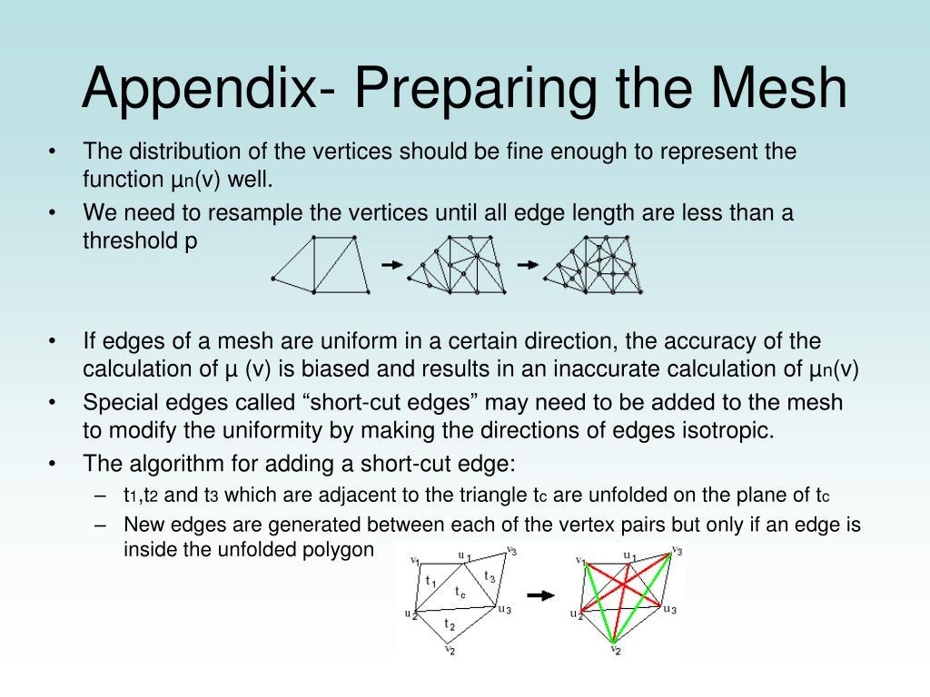 Appendix- Preparing the Mesh