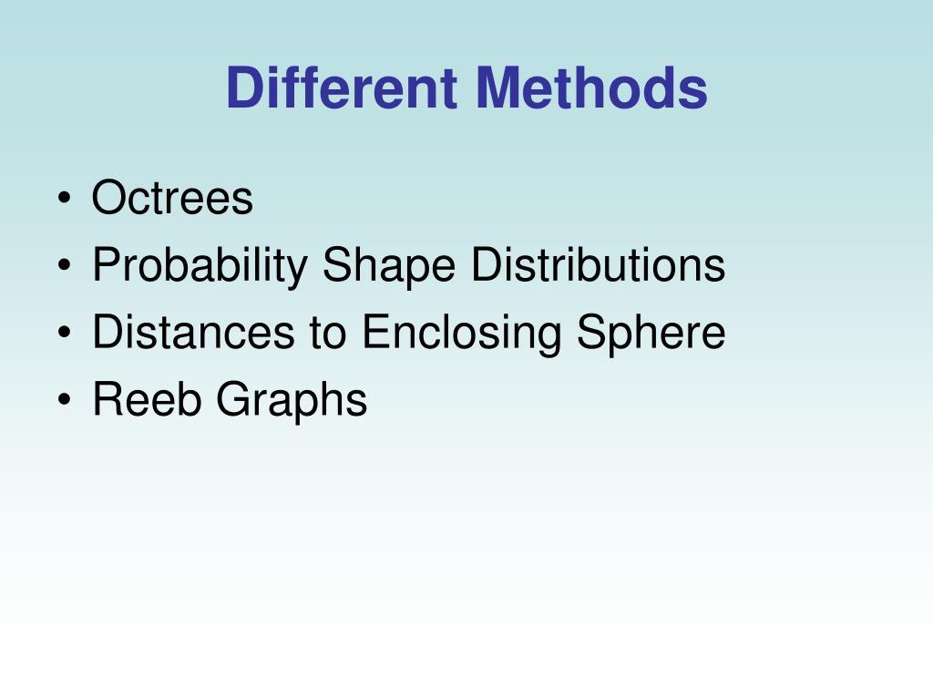 Different Methods