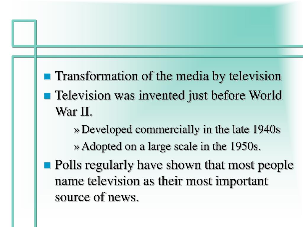 Transformation of the media by television