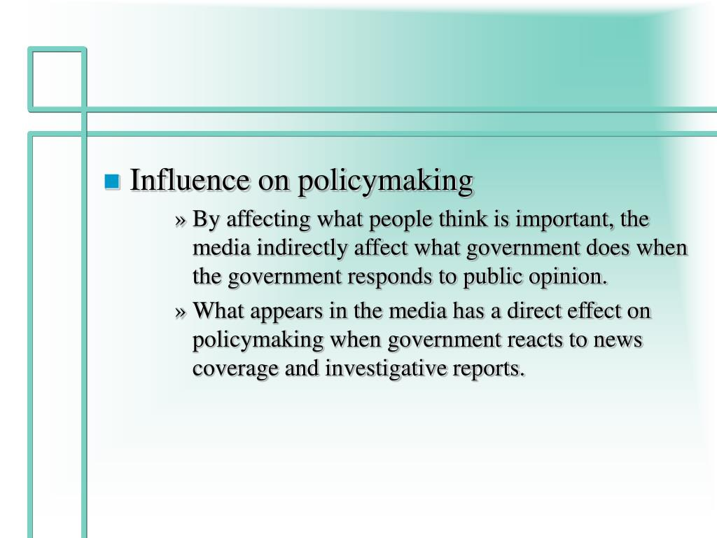 Influence on policymaking