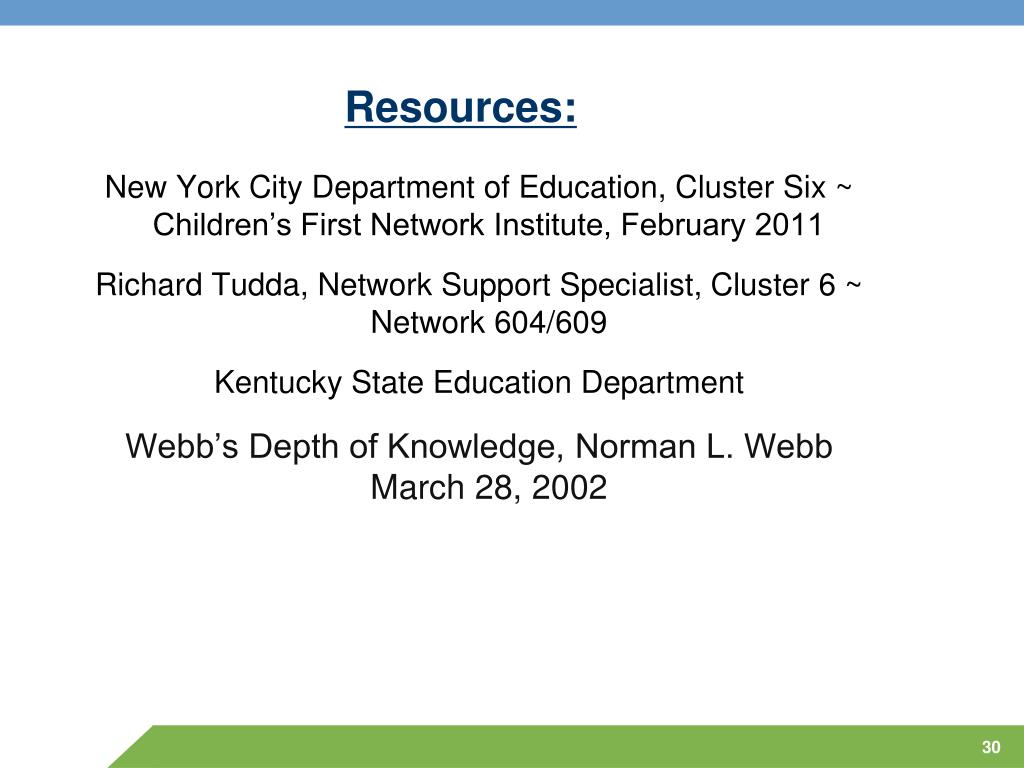 New York City Department Of Education Cluster 6