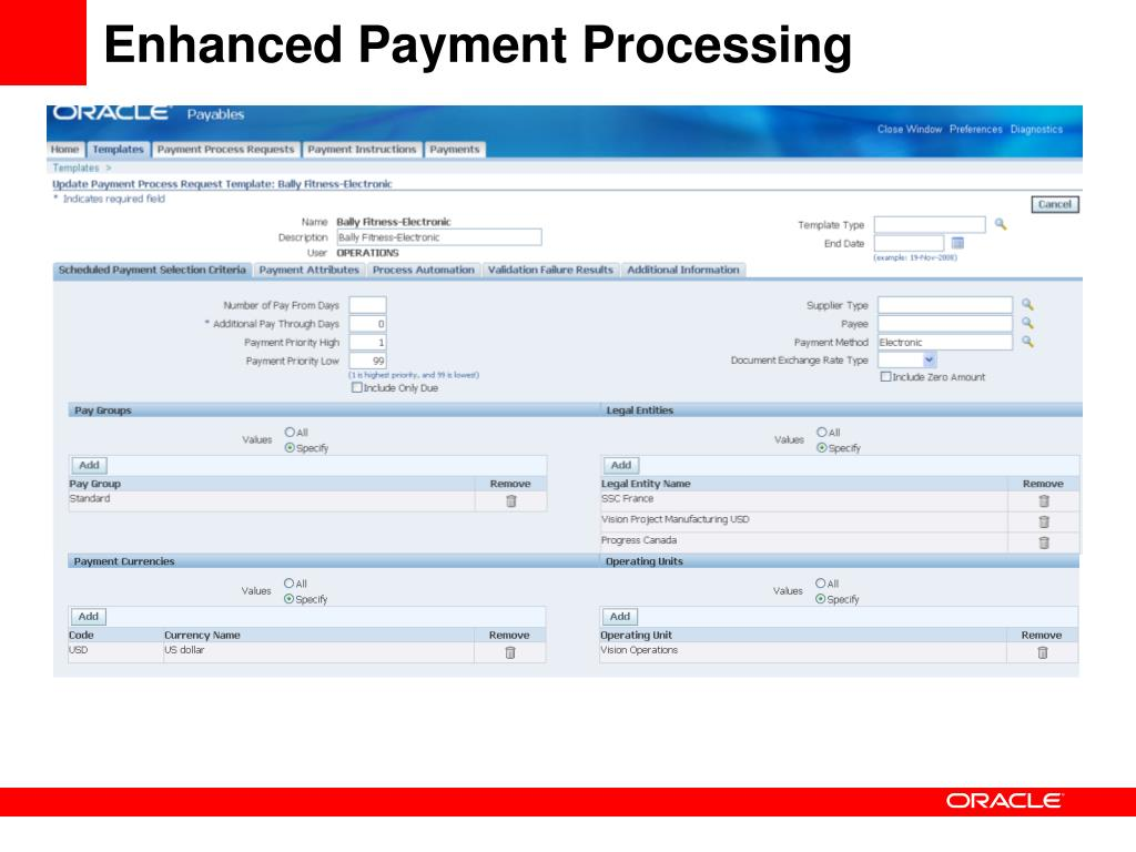 Enhanced Payment Processing