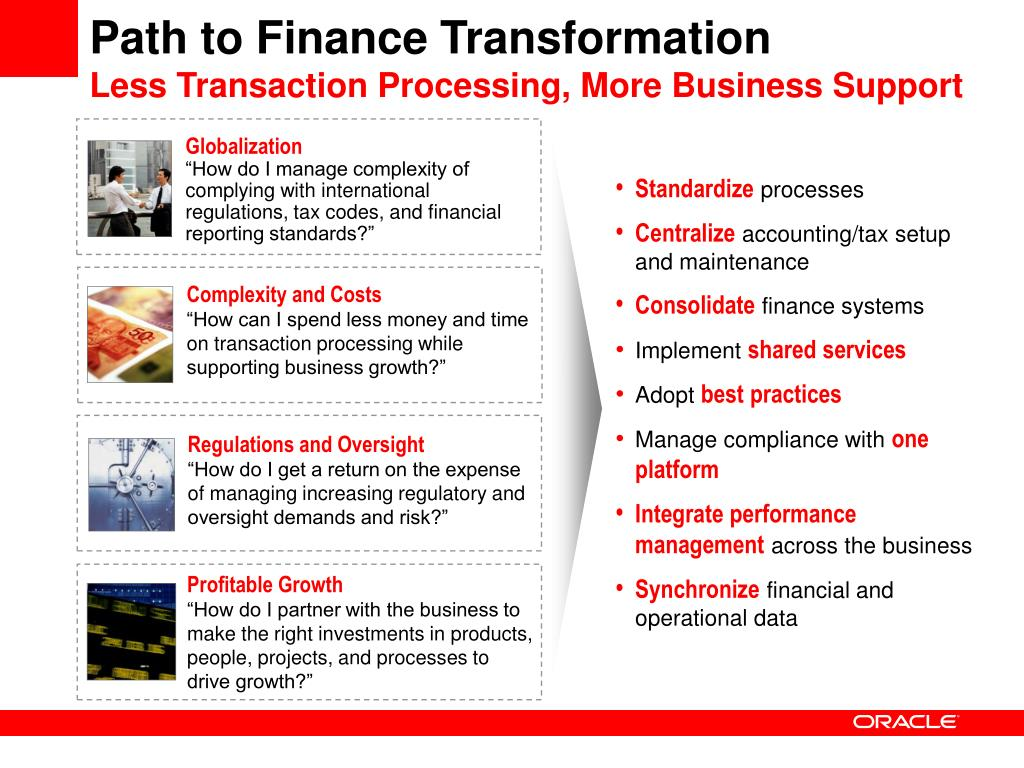 Path to Finance Transformation