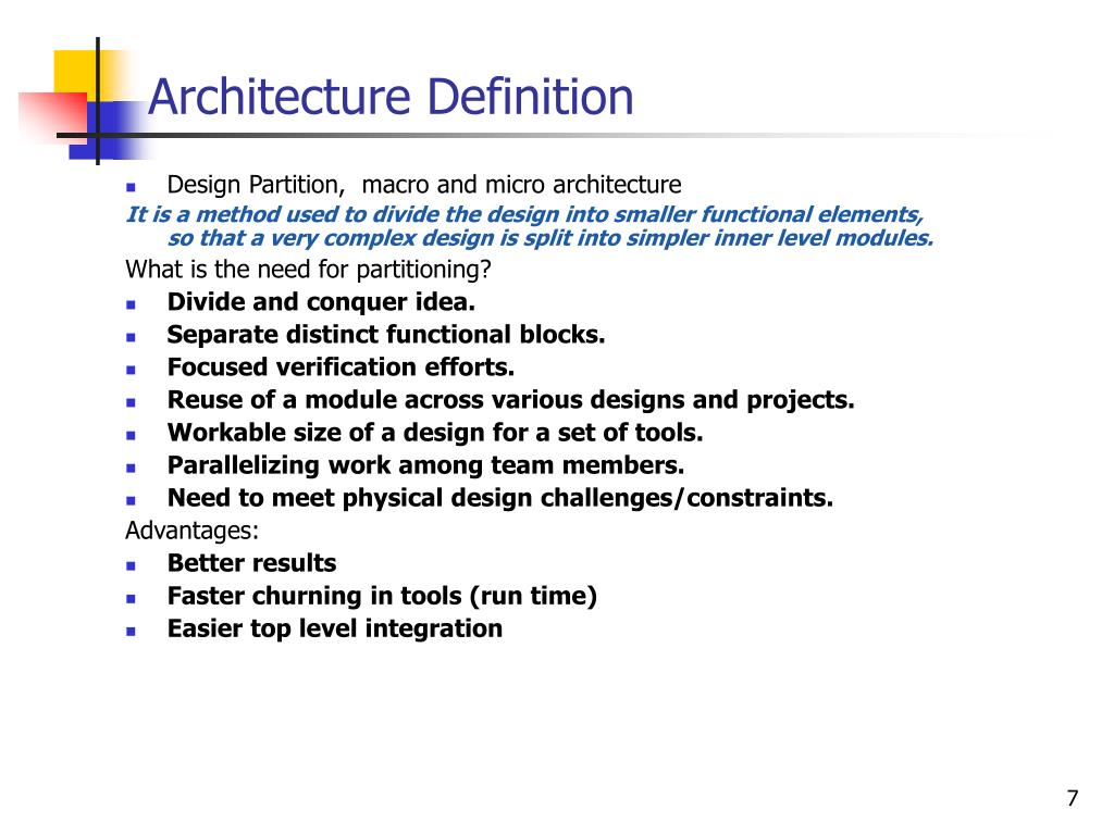 Ppt soc design flow powerpoint presentation id 520410 for Anarchitecture definition