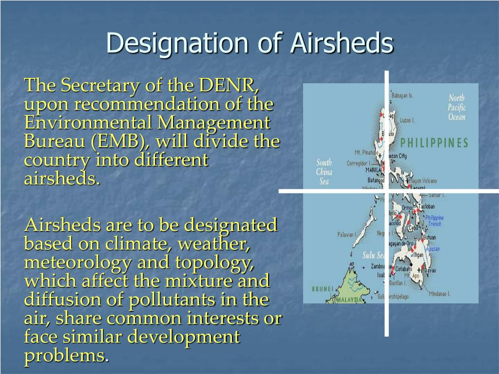 Designation of Airsheds