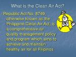 what is the clean air act