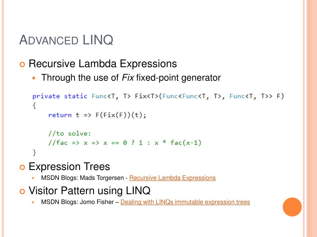 Advanced LINQ